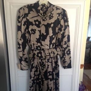 Designer Silk dress with belt from Albert Nipon